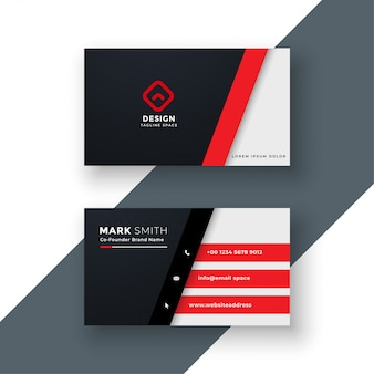 Modern red business card design