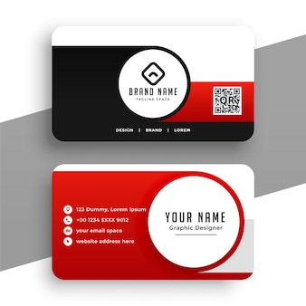 Современная красная визитка для вашего бизнеса
