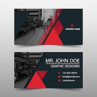 Modern red business card template design