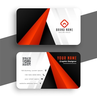 Modern red business card for your brand