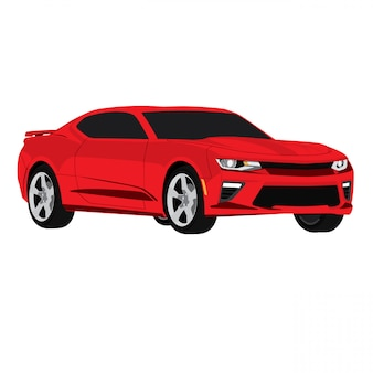 Modern red car vector illustration