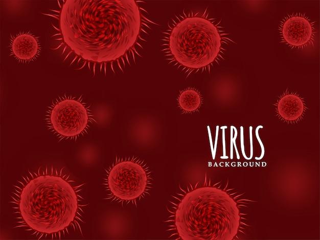 現代の赤い色のウイルスの背景