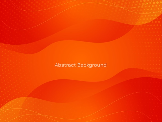 Modern red color wave style background vector