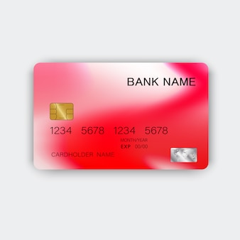 Modern red credit card design. with inspiration from abstract.
