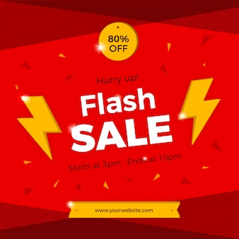 Modern red flash sale background