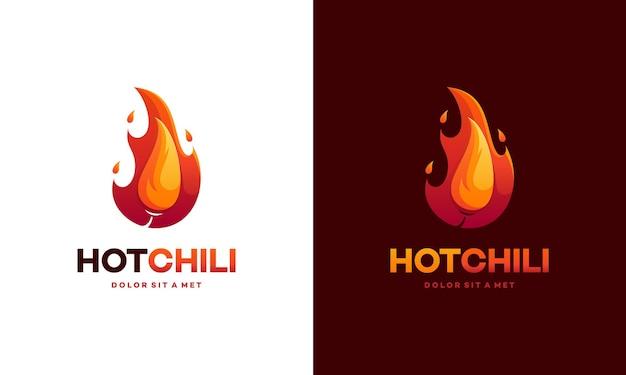 Modern red hot chili logo.