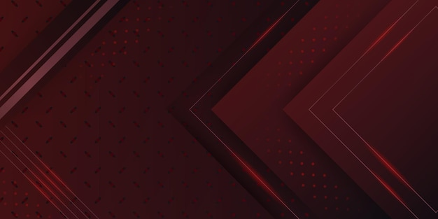 Modern red metallic abstract 3d background with dynamic overlap layers and light decoration