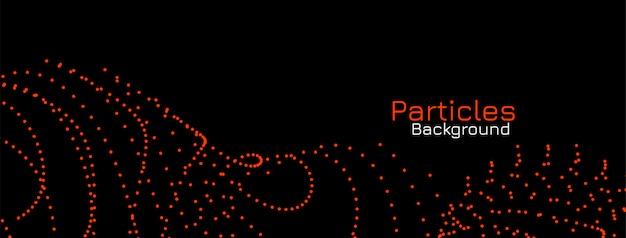 暗い背景にモダンな赤い粒子