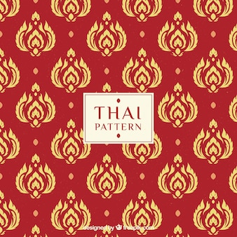 Modern red thai pattern