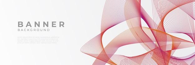 モダンな赤いベクトル抽象的なグラフィックデザインバナーパターン背景テンプレート。