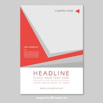 Design moderno dell'opuscolo rosso e bianco