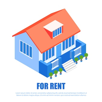현대 임대 주택 건축. 부동산 서비스