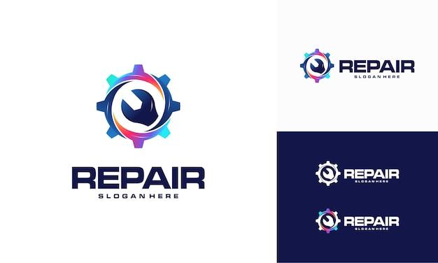 Современная концепция дизайна логотипа ремонта