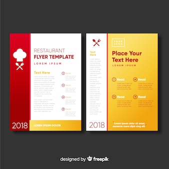 Modern restaurant flyer template