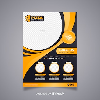Modern restaurant flyer with abstract design