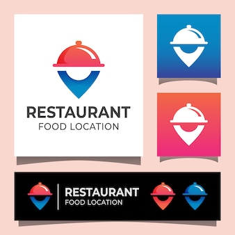 Modern restaurant food location logo
