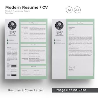 現代の履歴書とカバーレター