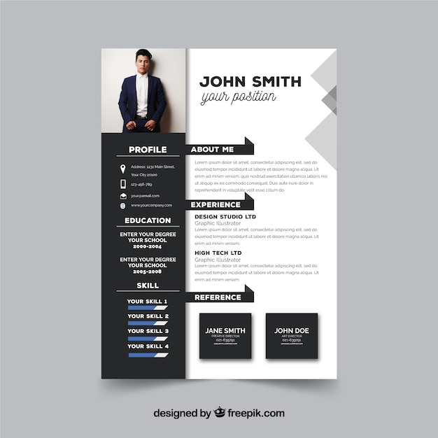 Free Modern Resume Template Svg Dxf Eps Png 104 Craft Icon Packs