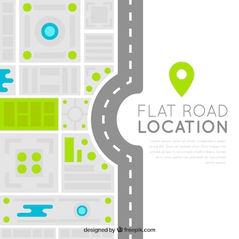 Modern road map in flat design