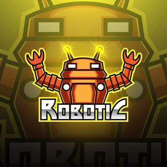 Modern robotic esport mascot logo