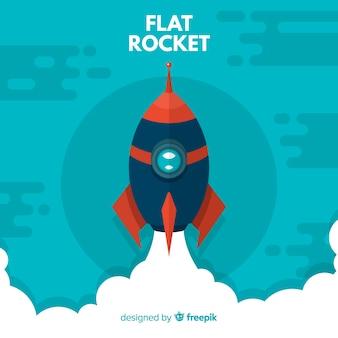 Modern rocket composition with flat design