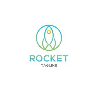 Modern rocket logo