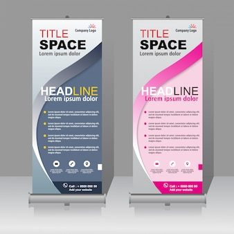 Modern roll up banner template design