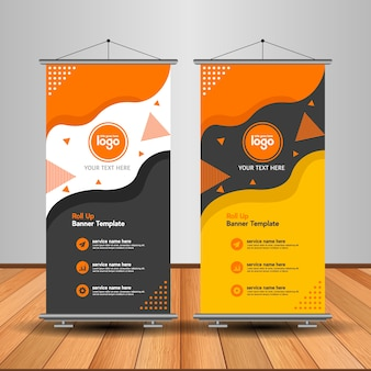 Modern roll up banner with abstract shape