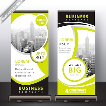 Modern roll up banners