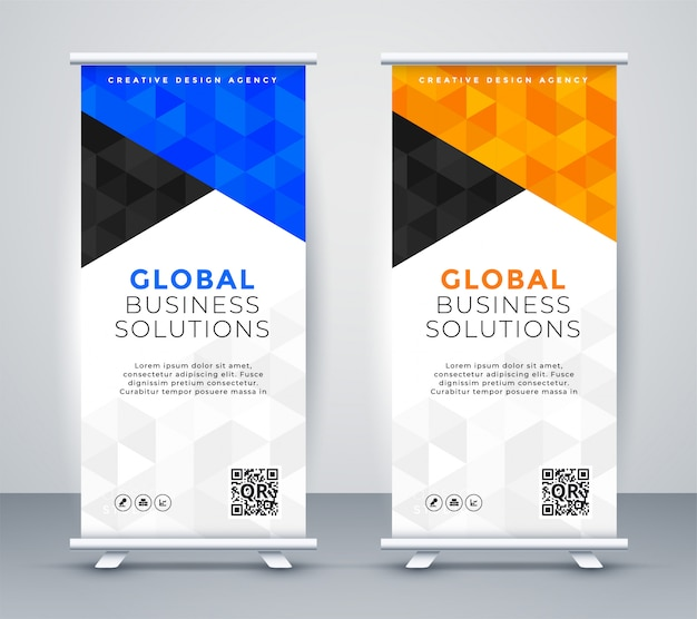 Modern rollup standee banner template