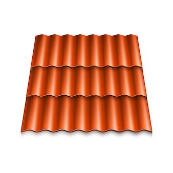 현대적인 지붕 덮개. 골판지 기와.