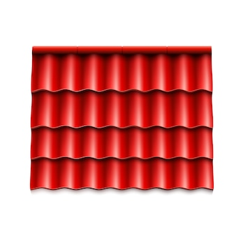 Modern roof coverings. red corrugated roof tile.