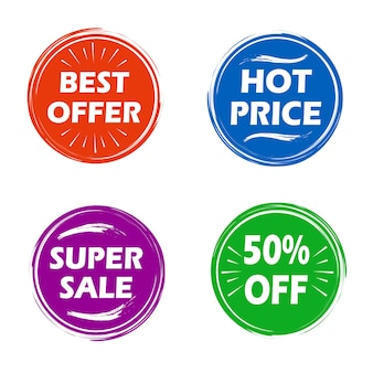 Modern sale badges collection