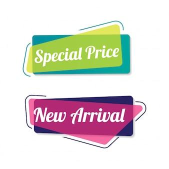 Modern sale banner badge
