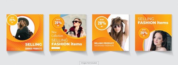 Современная распродажа баннеров для поста в instagram