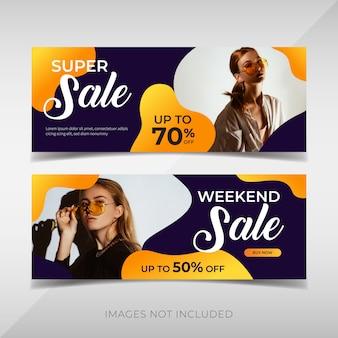 Modern sale banner template
