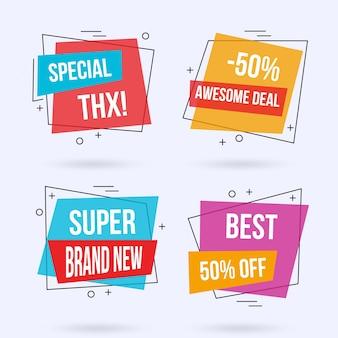 Modern sale banner templates