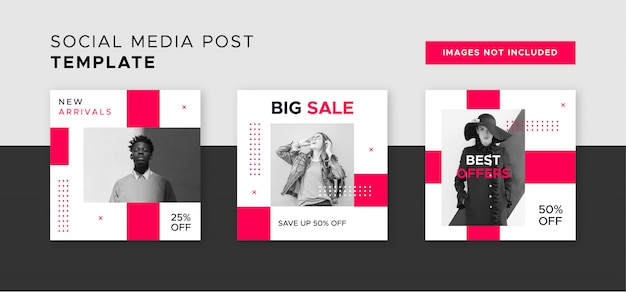 Modern sale banner for web and social media post
