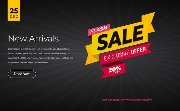 Modern sale banner web
