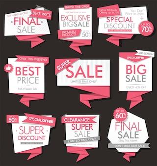 Современная продажа баннеров и этикеток современной коллекции