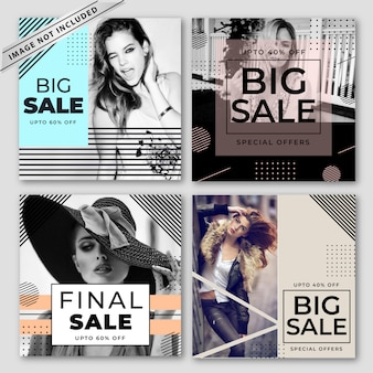 Modern sale banners collection