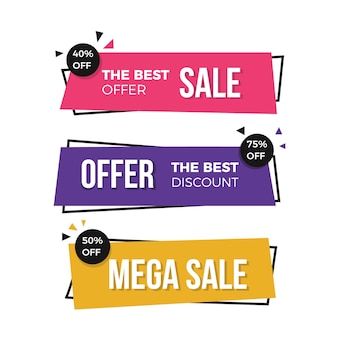 Modern sale banners