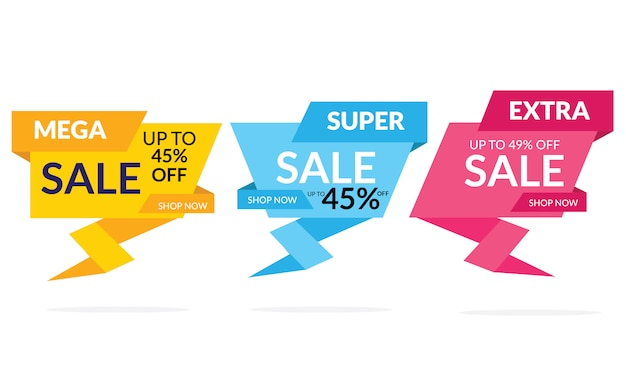Modern sale discount banner template promotion