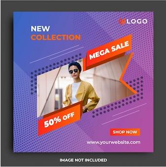 Modern sale fashion social media template