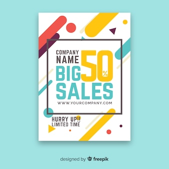 Modern sale flyer template