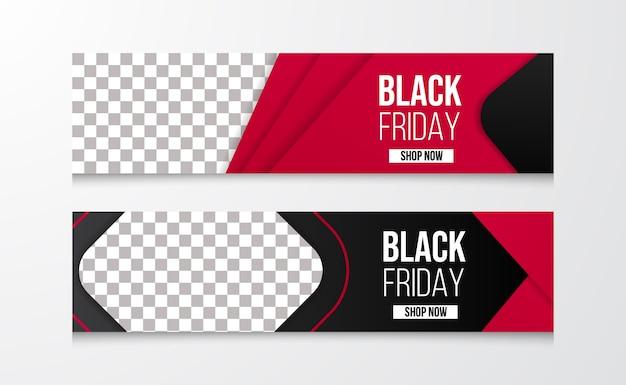 Modern sale offer discount black friday banner template