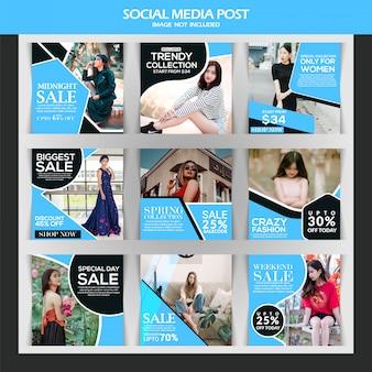Modern sale post for social media