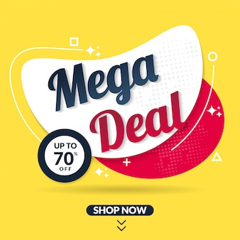 Modern sale promotion banner template for social media