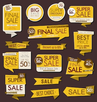Современные наклейки и ярлыки для продажи