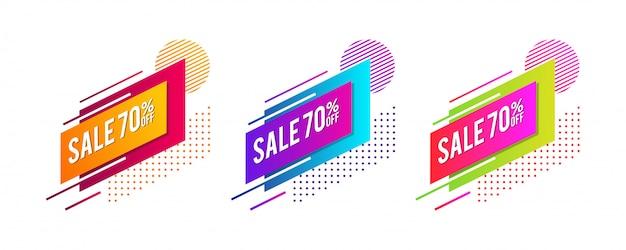 Modern sale tags.
